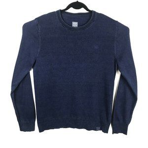 FATFACE Navy Blue Knit Cotton Crew Neck Sweater